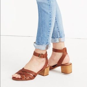 Madewell Lucy sandal brown size 8.5